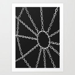 Web of pleasure and pain Art Print