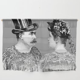 Tattooed Victorian Lovers Wall Hanging
