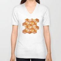 escher V-neck T-shirts featuring Escher #004 by rob art | simple