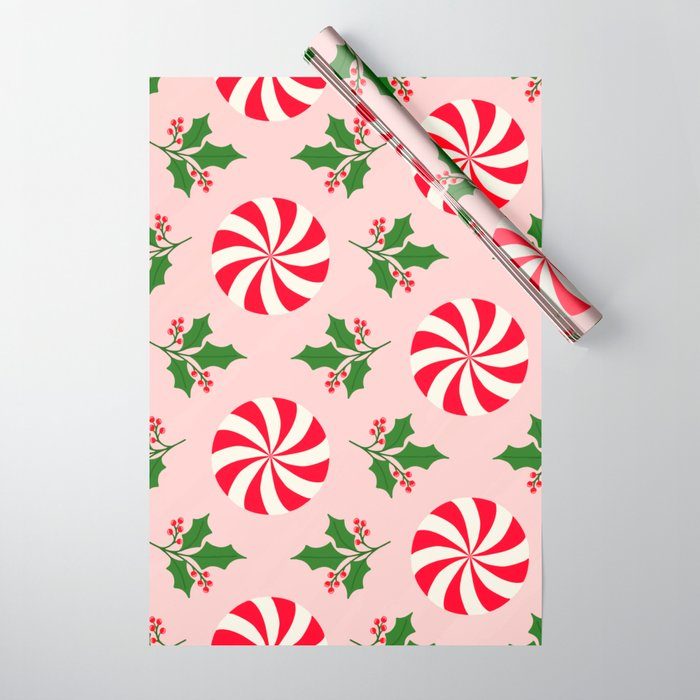 Vintage Peppermint Wrapping Paper