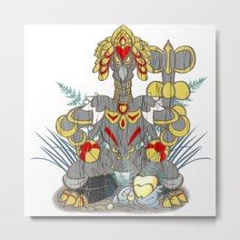 Kommo-o  Tiki  God Metal Print