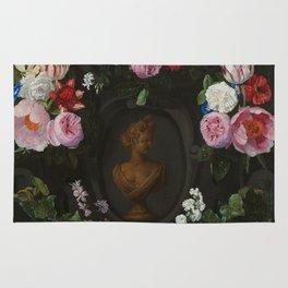 """Jan Philip van Thielen """"Festoon of Flowers surrounding a Bust of Flora"""" Rug"""