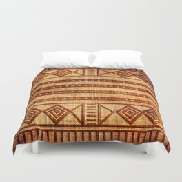 Embossed African Pattern Duvet Cover