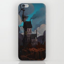 House on a hill iPhone Skin