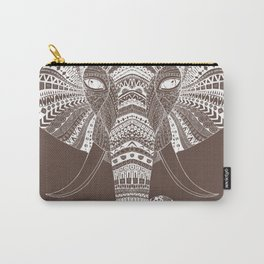 ELILIA Elephant in White Carry-All Pouch