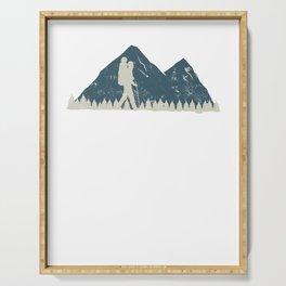 Appalachian Trail - Thru Hiker Distance White Marker print Serving Tray