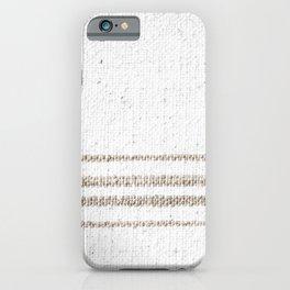 Vintage Farmhouse Grain Sack - Sandstone Stripes iPhone Case