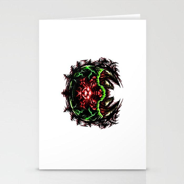 Super Metroid: Angry Baby Graphic Stationery Cards