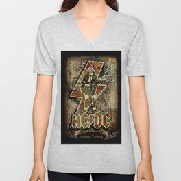 AC/DC angus young Unisex V-Neck