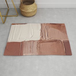 Abstract painting 6 - Caramel Cream Rug