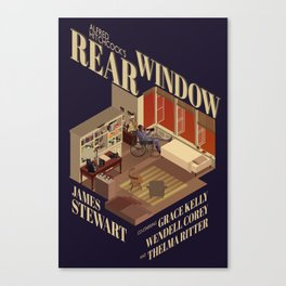 Rear Window Hitchcock Tribute Poster Canvas Print
