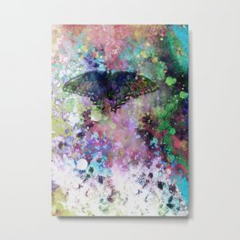 Butterfly abstract art by Ann Powell Metal Print
