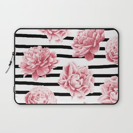 Simply Drawn Stripes and Roses Laptop Sleeve