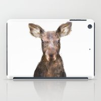 moose iPad Cases featuring Little Moose by Amy Hamilton