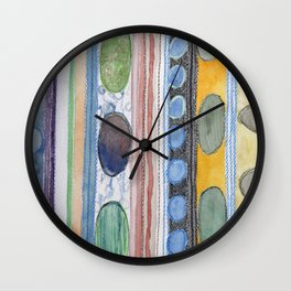 Serene Stripes Wall Clock
