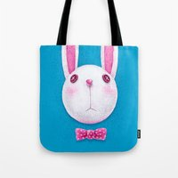 rabbit Tote Bags featuring Rabbit by Lime