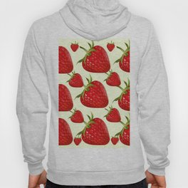RED STRAWBERRIES PATTERN ART Hoody