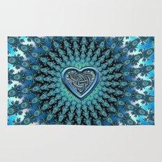Celtic Heart Knot Fractal Mandala Rug