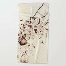 Pear tree Beach Towel