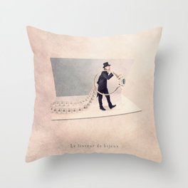 The Jewelry deliverer Throw Pillow