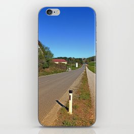 A long non-winding road | landscape photography iPhone Skin