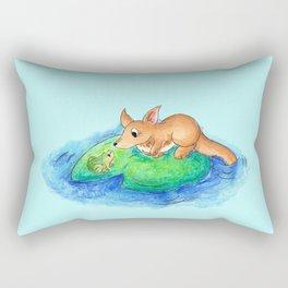 Friend on a Floaty Rectangular Pillow