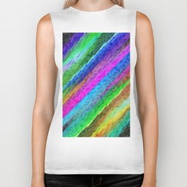 Colorful digital art splashing G478 Biker Tank