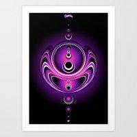 Fluorescent Glass Globes Art Print