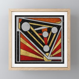 Mécanique Céleste - Abstract Geometric Design Framed Mini Art Print