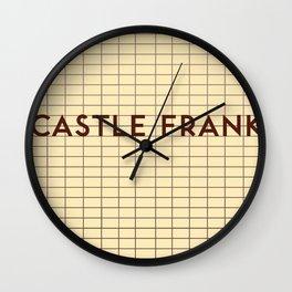 CASTLE FRANK   Subway Station Wall Clock