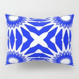 Royal Blue & White Pinwheel Flowers Pillow Sham