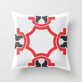 four sides Throw Pillow