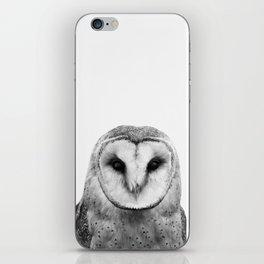 Black and white Owl iPhone Skin