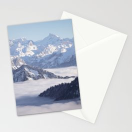 foggy in the Alps Stationery Cards