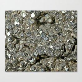 Pyrite Geode Canvas Print