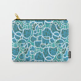Bubbles Blue Carry-All Pouch