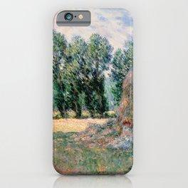 Claude Monet - Haystacks iPhone Case
