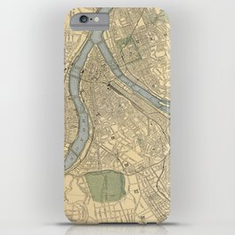 Vintage Map of Pittsburgh PA (1891) iPhone Case
