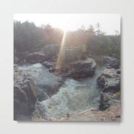 eau claire dells river 5636-09 Metal Print