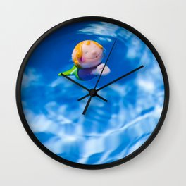 Mermaid in the pool Wall Clock