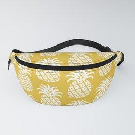 Mid Century Modern Pineapple Pattern Mustard Yellow Fanny Pack