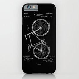 Vintage Bicycle Patent Black iPhone Case