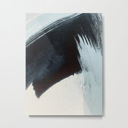 Like A Gentle Hurricane [2]: a minimal, abstract piece in blues and white by Alyssa Hamilton Art Metal Print