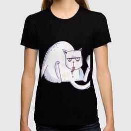 Leaking fat cat T-shirt
