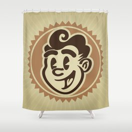 Vintage Character Portrait Shower Curtain