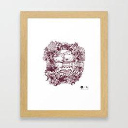Happy Cafe Framed Art Print