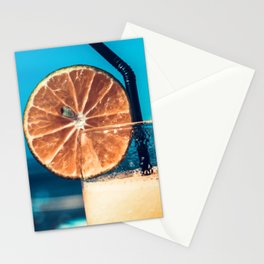 Cold drink at the beach Stationery Cards