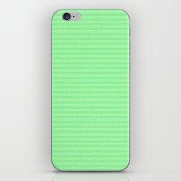 green stripes iPhone Skin