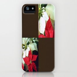 Mixed Color Poinsettias 2 Blank Q3F0 iPhone Case