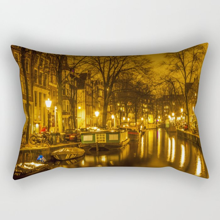 Amsterdam canals Rectangular Pillow